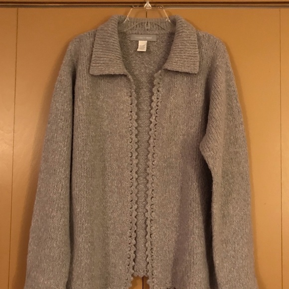 Modern Soul Sweaters - Soft and fuzzy lilac open sweater XL Modern Soul